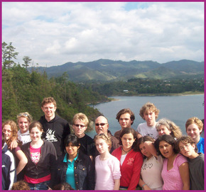 High School group from Trumansburg, NY at Lake Tziscao, Montebello Lakes National Park, Chiapas